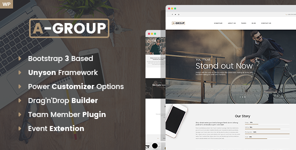 test A-Group - Business Company WordPress theme