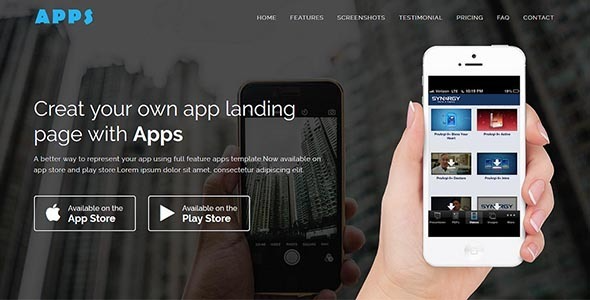 test APPS - Responsive App Landing WordPress Theme