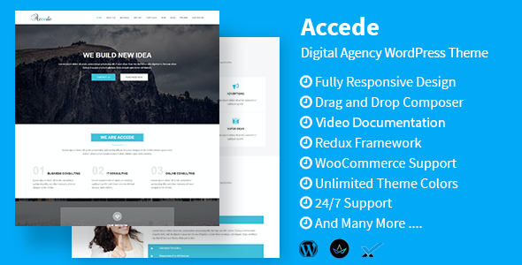 test Accede - Digital Agency WordPress Theme