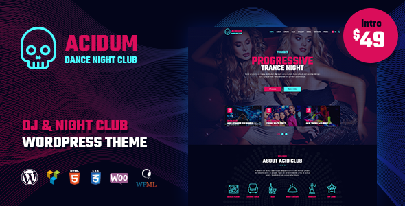 test Acidum - DJ, Dance & Disco Night Club and Music WordPress Theme