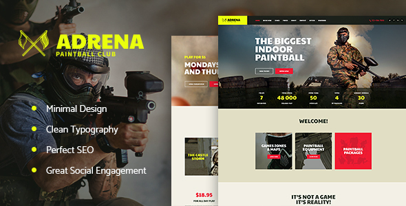 test Adrena | Paintball Club WordPress Theme