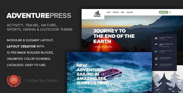 Test du thème WordPress Adventure Press , découvrez notre avis