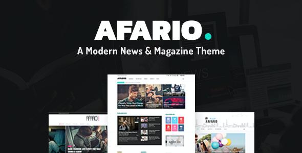 Test du thème WordPress Afario , découvrez notre avis
