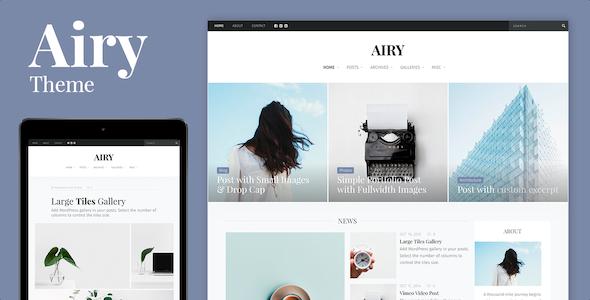 Test du thème WordPress Airy , découvrez notre avis