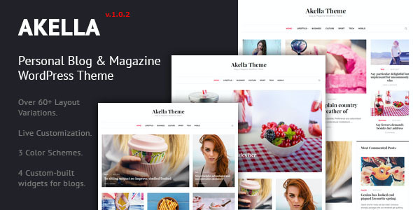 test Akella - Personal Blog & Magazine WordPress Theme
