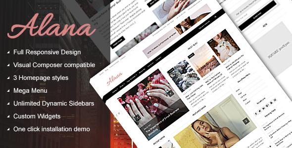 Test du thème WordPress Alana , découvrez notre avis