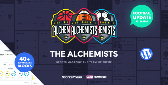 test Alchemists - Sports Club and News WordPress Theme