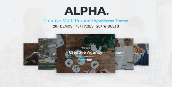 Test du thème WordPress Alpha Dot Multi Purpose WordPress Theme , voici notre avis