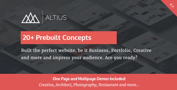 Test du thème WordPress Altius Multi , voici notre avis