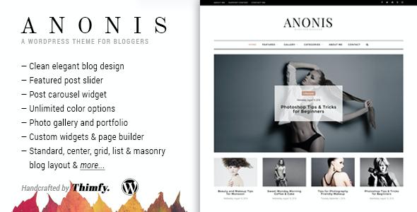 Test du thème WordPress Anonis , voici notre avis