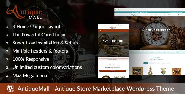 Test du thème WordPress AntiqueMall , voici notre avis