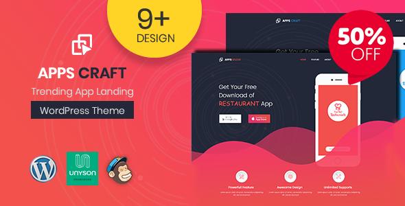 Test du thème WordPress Apps Craft , voici notre avis