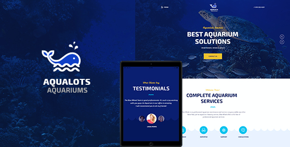 test Aqualots | Aquarium Services WordPress Theme