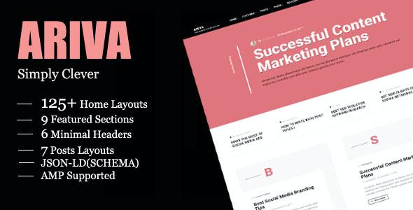 Test du thème WordPress Ariva , voici notre avis