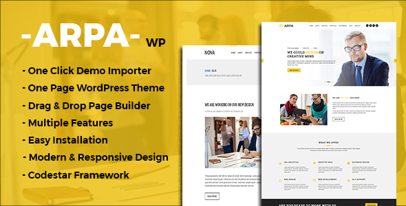 test Arpa - One Page Business WordPress Theme