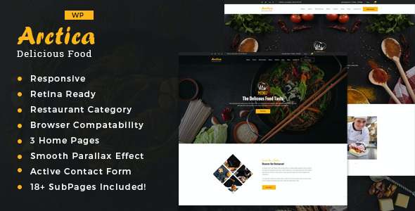 test Artica : Restaurant WordPress theme