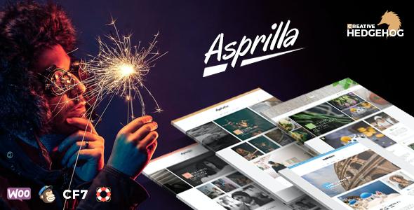 Test du thème WordPress Asprilla , voici notre avis