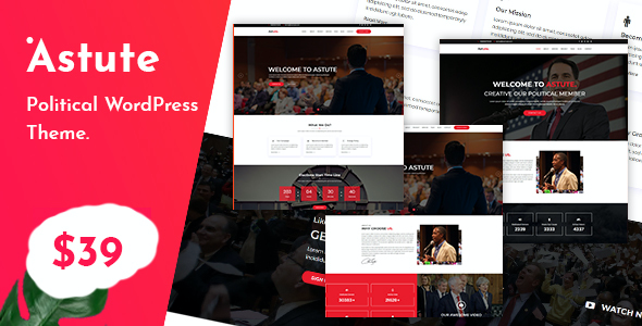 test Astute - Political Responsive WP theme