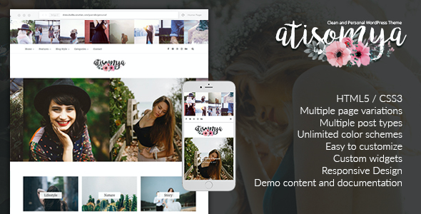 test Atisomya - Clean & Personal WordPress Blog Theme