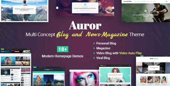 Test du thème WordPress Auror , voici notre avis