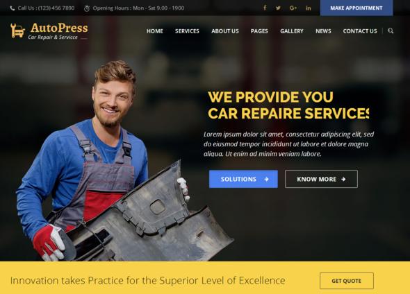 Test du thème WordPress AutoPress , découvrez notre avis