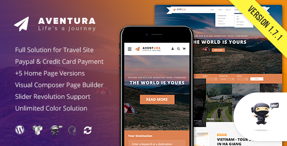 test Aventura - Travel & Tour Booking System WordPress Theme
