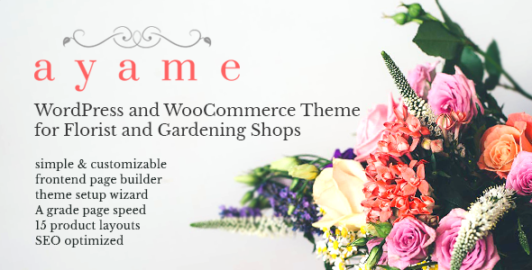 test Ayame - WordPress and WooCommerce Theme for Florist and Gardening Shops