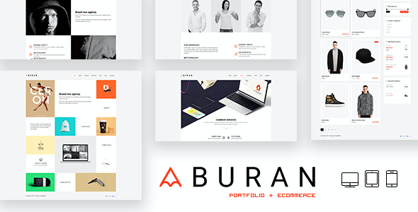 test BURAN - Creative Portfolio and Business WordPress Theme