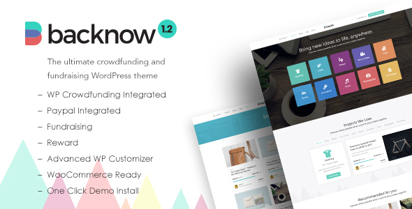 test Backnow - Crowdfunding and Fundraising WordPress Theme