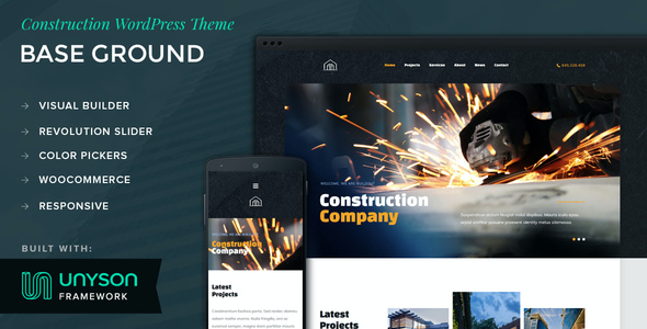 test Base Ground - Construction WordPress Theme