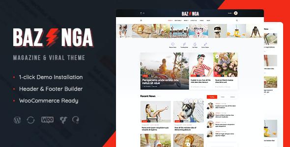 Test du thème WordPress Bazinga , découvrez notre avis