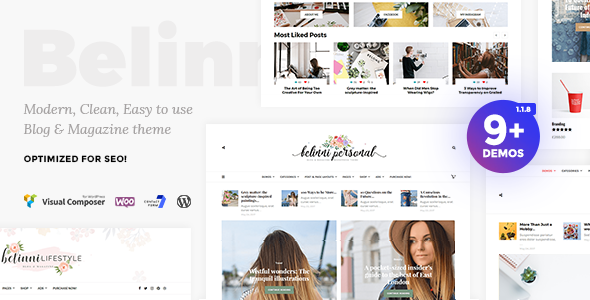 test Belinni - Multi-Concept Blog / Magazine WordPress Theme