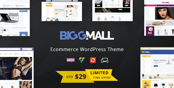 Test du thème WordPress BiggMall , voici notre avis