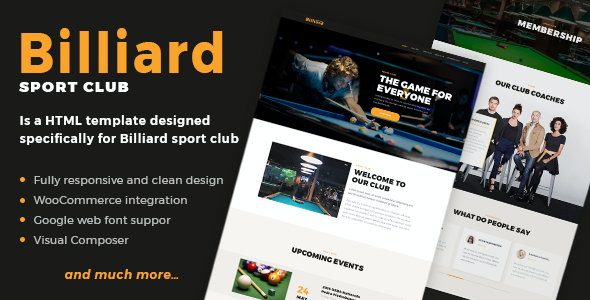 test Billiard - Creative Sporting WordPress Theme