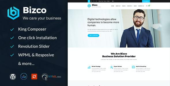Test du thème WordPress Bizco , voici notre avis