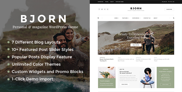 test Bjorn - A Multi-Concept Theme for Freelancers and Creative Agencies