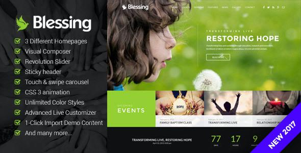 Test du thème WordPress Blessing , voici notre avis