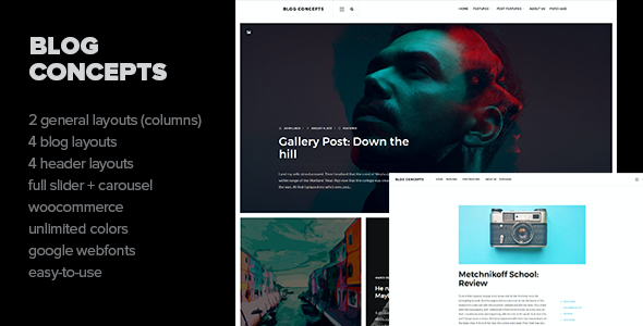 test Blog Concepts - Minimalist WordPress Theme for your Blog / Magazine Website