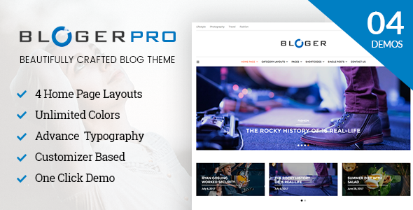 test Blogger Pro - Blog & Magazine WordPress Theme