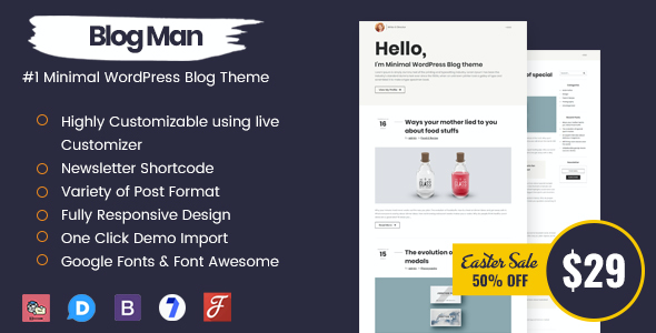 test Blogman - Minimal WordPress Blog Theme
