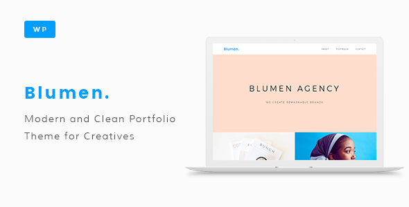 test Blumen Portfolio WordPress Theme