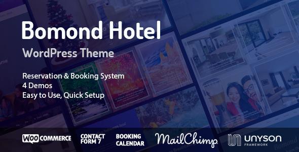 Test du thème WordPress Bomond Hotel WordPress Theme , voici notre avis