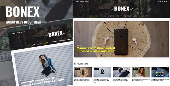 Test du thème WordPress Bonex , découvrez notre avis