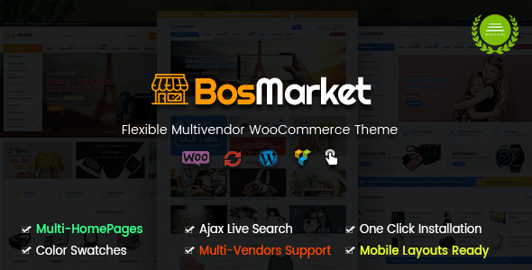 test BosMarket - Flexible Multi-Vendor WooCommerce Theme (Mobile Layouts Included)