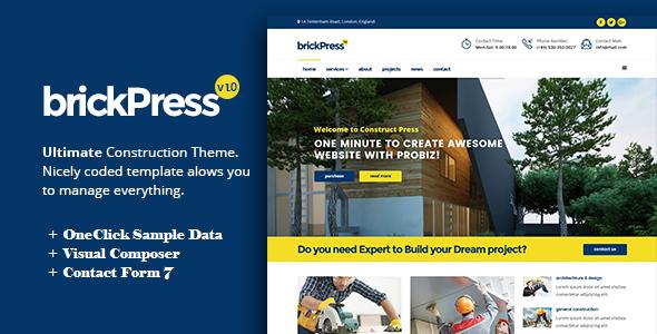 Test du thème WordPress BrickPress , voici notre avis