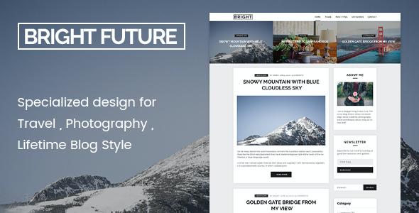 Test du thème WordPress BrightFuture , voici notre avis