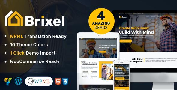 Test du thème WordPress Brixel Construction WordPress Theme , découvrez notre avis