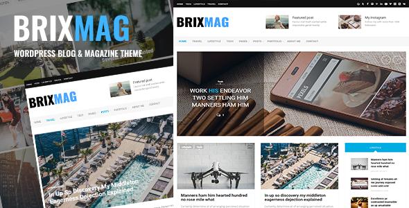 Test du thème WordPress Brixmag , voici notre avis