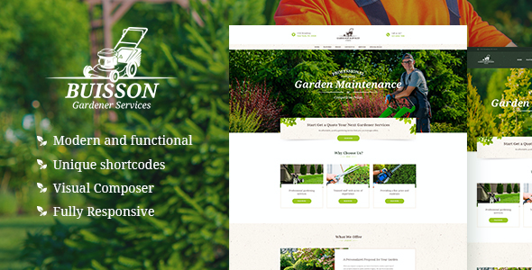 test Buisson | Gardening WordPress Theme