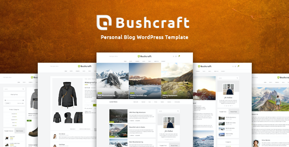 Test du thème WordPress Bushcraft , découvrez notre avis